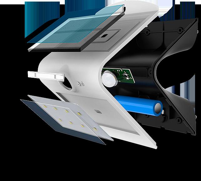 Фото солнечный светильник  с датчиком движения